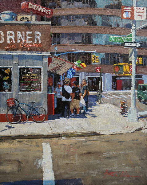 Scott Prior, La Esquina, oil, 20 x 16.