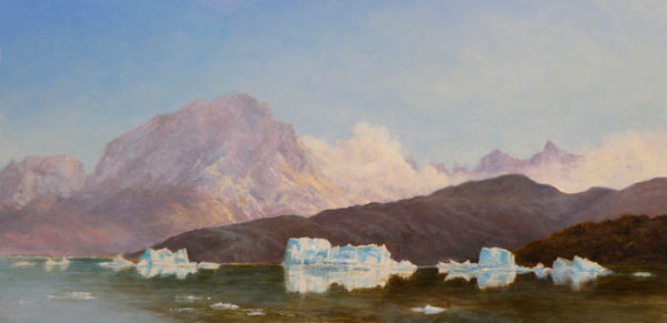 Lago Grey, oil, 18 x 36.