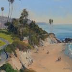 Carl Bretzke, Laguna Beach Off Season, oil, 11 x 14.