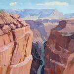 Dale Laitinen, American Nile, Toroweap, oil, 36 x 48.