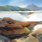 Dale Laitinen, Dry Lakebed, Northern Nevada, watercolor, 29 x 41.