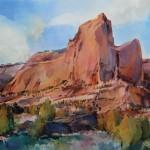 Dale Laitinen, Red Rock Cloud Scraper, watercolor, 29 x 41.