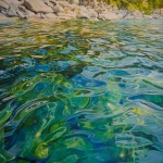 Michelle T. Courier, Lake Tahoe Water, acrylic, 72 x 48.