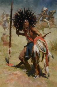 Z.S. Liang, Lakota Sash Bearer, 1848, oil, 54 x 36.