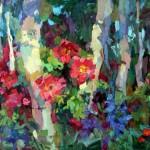 Wild Roses, oil, 30 x 40.