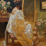 Gladys Roldan-de-Moras, Last Song, oil, 36 x 48.