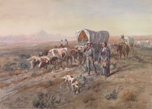 Charles M. Russell, Last Chance or Bust, 1900, watercolor, C.M. Russell Museum, Gift of Mr. and Mrs. John D. Stephenson.
