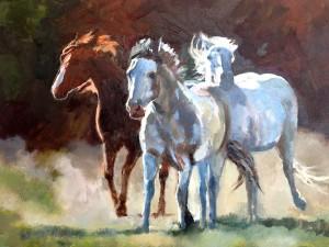 Laura Mehmert, Breakaway, oil, 24 x 30.