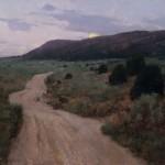 T. Allen Lawson, ETA—Well After Dark, oil painting
