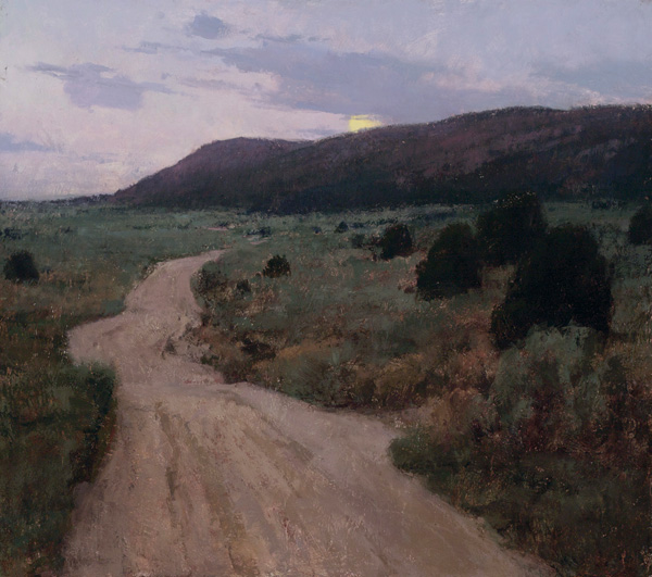 T. Allen Lawson, ETA—Well After Dark, oil painting