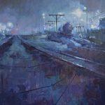 Wyatt LeGrand, Refinery, oil, 22 x 28.