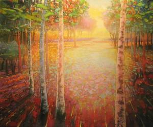 Mark Gould, Let Light Move Us: Arcadian 940, acrylic, 60 x 72.