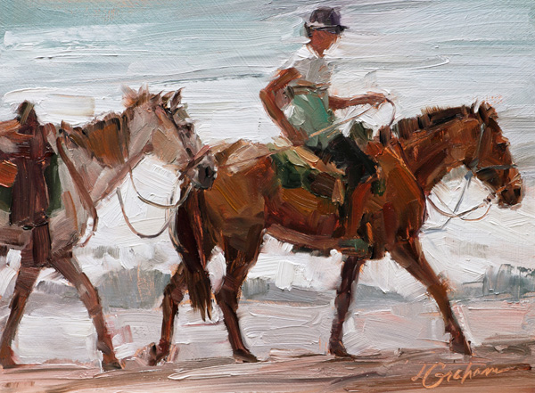 Lindsey Bittner Graham, Let's Go Home, oil, 6 x 8.