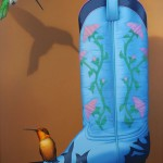 Tom Palmore, Fancy Boot, acrylic/oil, 48 x 36, LewAllen Galleries.