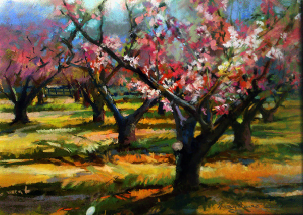 Nancy Lewis, Lyle's Empire, pastel landscape painting