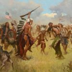 Z.S. Liang, Victory Dance, Little Bighorn 1876, oil, 40 x 60. No estimate at time of publication.