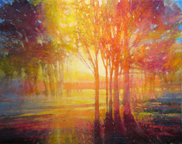 Mark Gould, Light Moves Us: Arcadian 945, acrylic, 24 x 30.