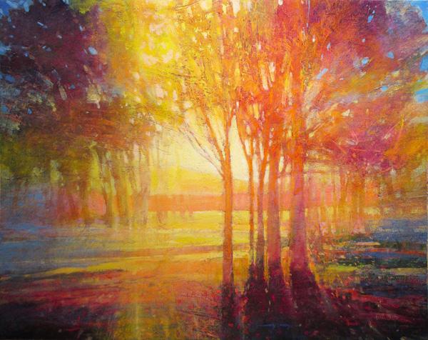 Mark Gould, Light Moves Us: Arcadian 945, acrylic, 24 x 30.