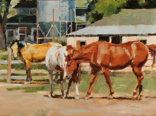 Lindsey Bittner Graham, Trio, oil, 12 x 16.