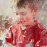 Carolyn Anderson   Little Boy, oil, 10 x 8.