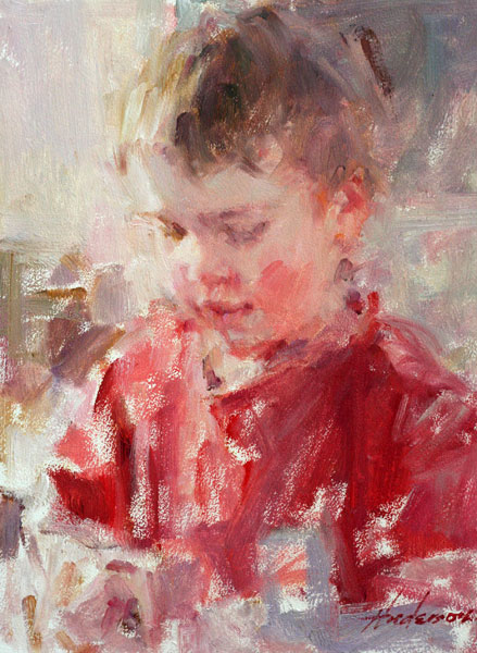 Carolyn Anderson | Little Boy, oil, 10 x 8.