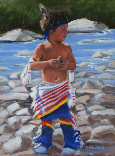 Diana Madaras, Little Chief, acrylic, 16 x 12.