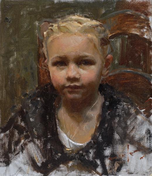 Mike Malm, Little Girl, oil, 13 x 10.