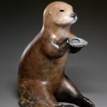 Liz Wolf, Sea Shell Fetish, bronze, 10 x 6 x 8.