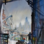 Thomas W. Schaller, Loading Dock, Seattle, watercolor, 30 x 22.