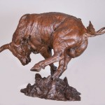 Richard Loffler, Top Knots and Tails, Bronze sculpture