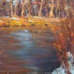 Dan Beck, Long Last Rays, oil, 15 x 30.