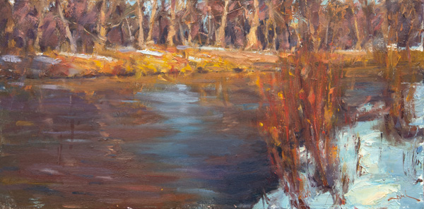 Dan Beck, Long Last Rays, oil, 15 x 30.