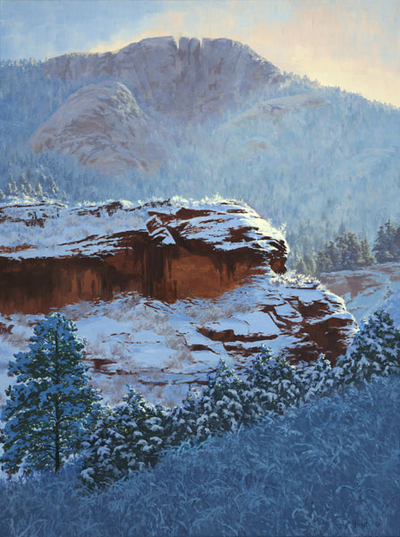 Lori Forest, Winter's Eloquence, oil, 40 x 30.