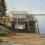 Carol Jenkins, Low Tide, oil, 14 x 11.