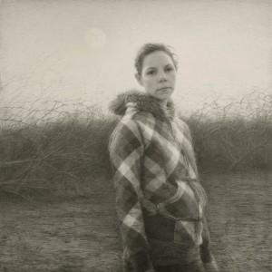 Julio Reyes | Low Moon, graphite, 28 x 28.