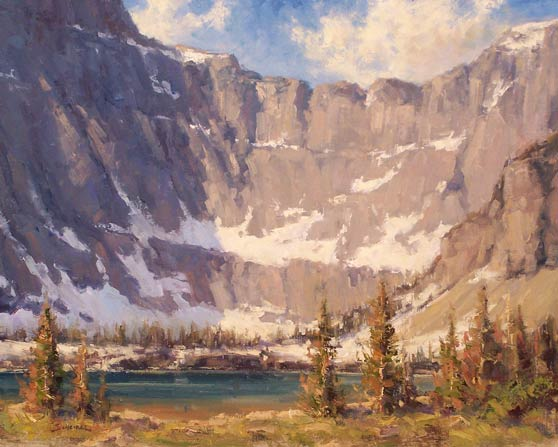 Greg Scheibel, Lower Iceberg Lake, oil, 14 x 18.