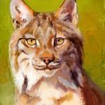 Julie T. Chapman, Lynx Study, oil, 8 x 6. Estimate: $500.