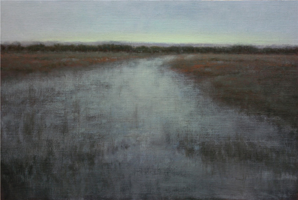 Nancy Bush, Marshland, oil, 20 x 30.