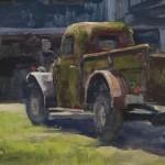 Wayne McKenzie, Explosives, oil, 14 x 18.