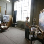 Jesse Powell at his art studio in Monterey, CA