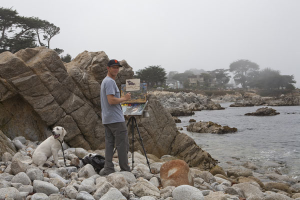Jesse Powell painting in Monterey, CA