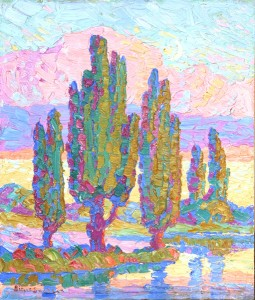 Birger Sandzén, New Moon, Logan, UT, oil, 14 x 12. Estimate: $25,000-$35,000.