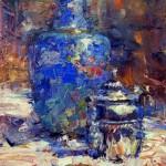 Robert MacPherson, Blue Vace, oil, 16 x 12.