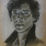 Julia Maddalina, Study in Sherlock, charcoal, 18 x 12.