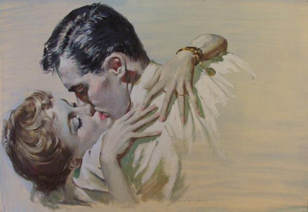 Ernest Chiriacka, Magazine illustration, gouache, 20 x 30.
