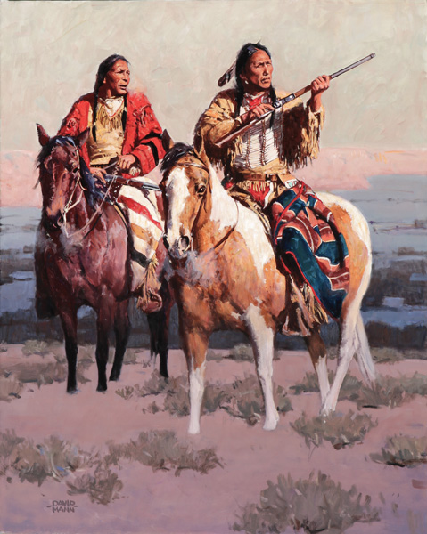 David Mann, A Long Shot, oil, 30 x 24.