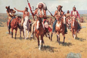 David Mann, Way of the Cheyenne, oil, 40 x 60.