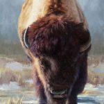 Jeremy Manyik, Standing Ground, oil, 60 x 36.