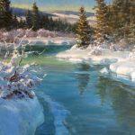 Chuck Mardosz, South Platte River, oil, 24 x 36.