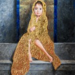 Marina Dieul, Belisama, oil, goldleaf, 6 x 8.